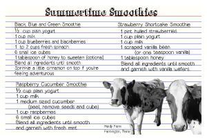 summertime smoothies