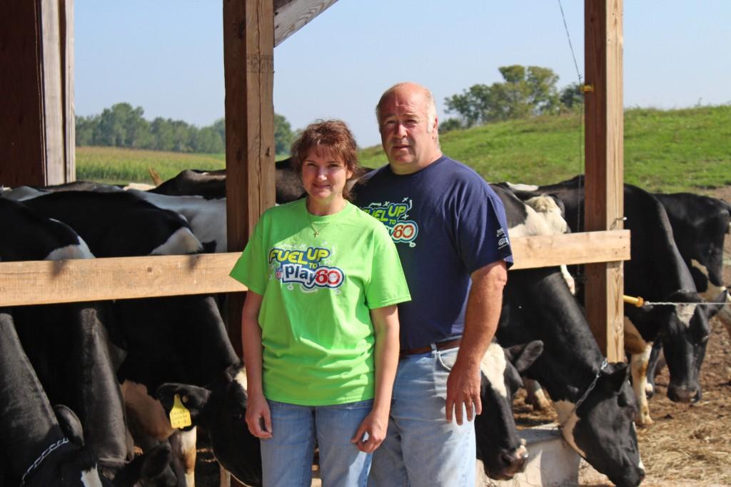 Becki and Eddie Benson of the Benson Farm, a 2013 New England Green Pastures Award winner.